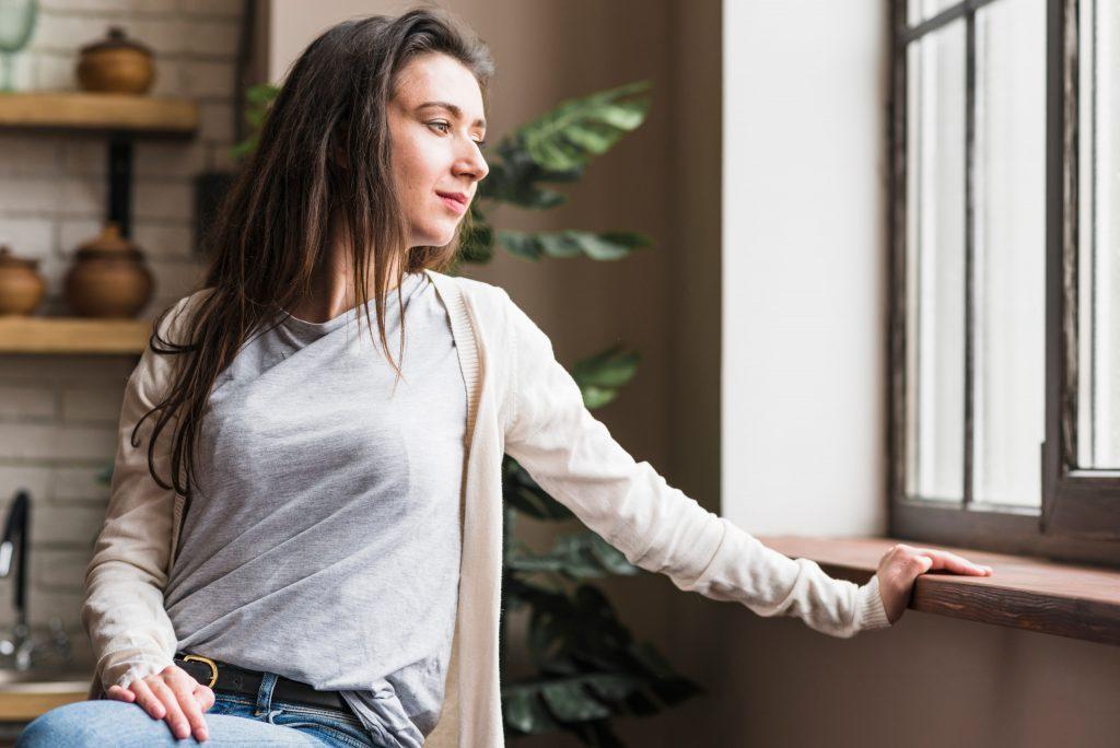 Chica con reducción mamaria
